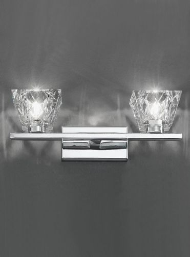 Franklite FL2302/2 Chrome Wall Light